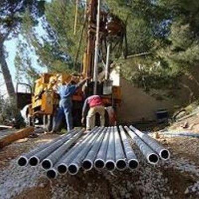 Forage et tubes en PVC
